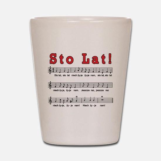 Sto Lat! Song Shot Glass