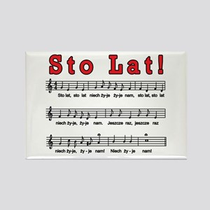 Sto Lat! Song Rectangle Magnet