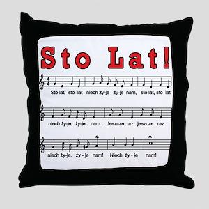 Sto Lat! Song Throw Pillow