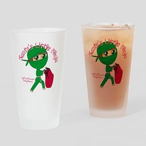 Santas Little Ninja Drinking Glass