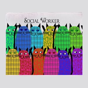 social worker cats horizi blanket Stadium Bla