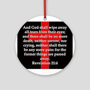 Revelation 21-4 Round Ornament
