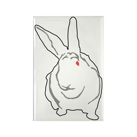 Bunny Rectangle Magnet
