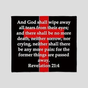 Revelation 21-4 Throw Blanket