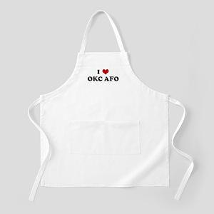 I Love OKC AFO BBQ Apron