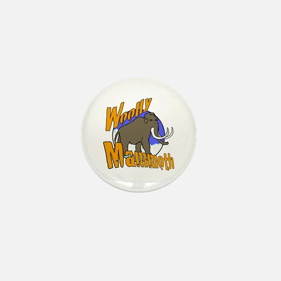 Woolly mammoth Mini Button