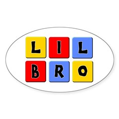 Lil Bro Oval Decal