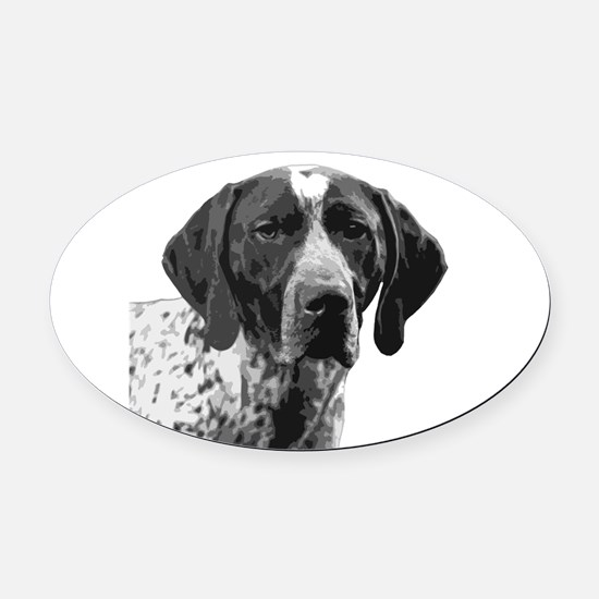 German Shorthaired Pointer Oval Car Magnet