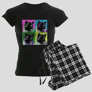 Akita Pop Art Women's Dark Pajamas