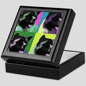 Akita Pop Art Keepsake Box