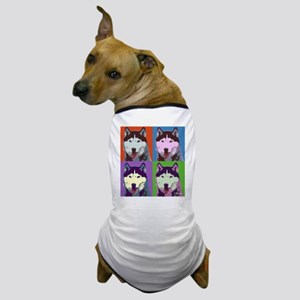 Husky Pop Art Dog T-Shirt