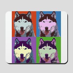 Husky Pop Art Mousepad