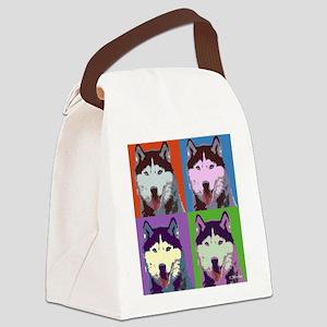 Husky Pop Art Canvas Lunch Bag
