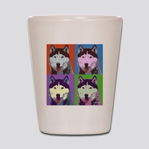 Husky Pop Art Shot Glass
