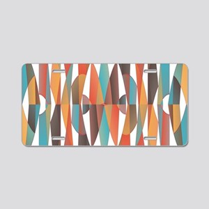 Colorful geometric abstract Aluminum License Plate