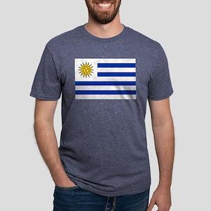 Uruguay - National Flag Mens Tri-blend T-Shirt