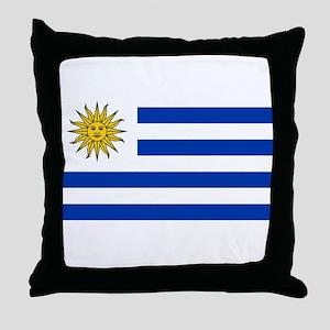 Uruguay - National Flag Throw Pillow