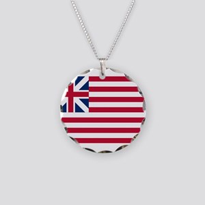 USA - Grand Union Flag - 1775-1777 Necklace Circle