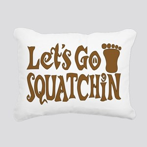Let's Go Squatchin Rectangular Canvas Pillow