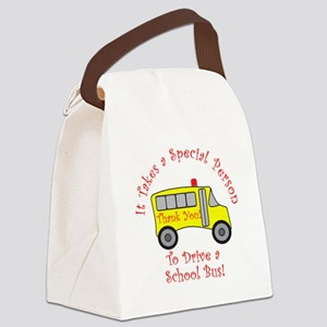 School Bus Driver Canvas Lunch Bag