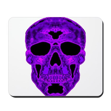 Purple Skull Mousepad