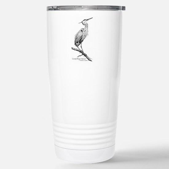 Great Blue Heron Stainless Steel Travel Mug