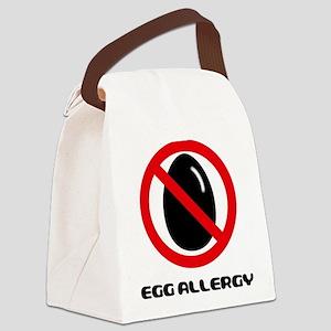 Egg Allergy Canvas Lunch Bag