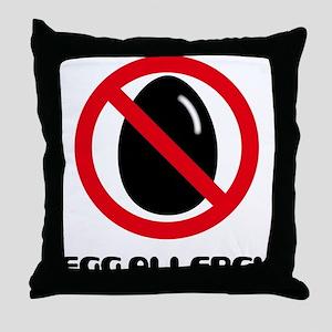 Egg Allergy Throw Pillow