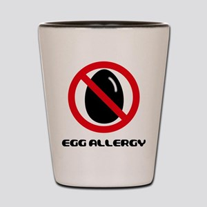 Egg Allergy Shot Glass