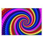 Psychedelic Rainbow Large Poster