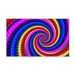 Psychedelic Rainbow 20x12 Wall Decal