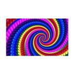 Psychedelic Rainbow 35x21 Wall Decal