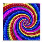Psychedelic Rainbow Tile Coaster