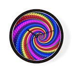 Psychedelic Rainbow Wall Clock