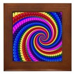 Psychedelic Rainbow Framed Tile