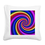 Psychedelic Rainbow Square Canvas Pillow