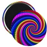 Psychedelic Rainbow Magnet