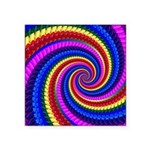 Psychedelic Rainbow Square Sticker 3