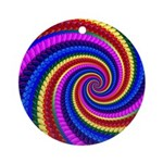 Psychedelic Rainbow Ornament (Round)