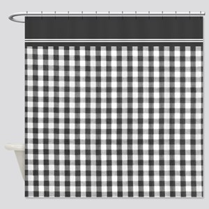 Black and white Gingham shower curtain