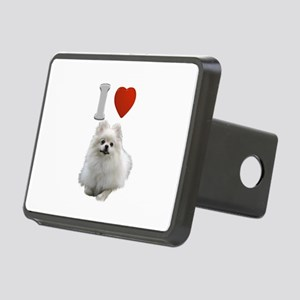 White Pomeranian Rectangular Hitch Cover