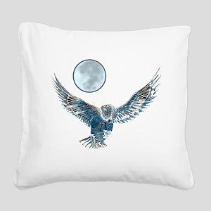 Snow owl blanket Square Canvas Pillow