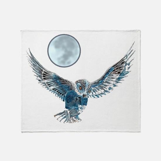 Snow owl blanket Throw Blanket
