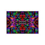 Rainbow Mandala Fractal Art Pattern 5'x7'Area Rug
