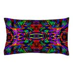 Rainbow Mandala Fractal Art Pattern Pillow Case