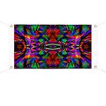 Rainbow Mandala Pattern Banner