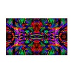 Rainbow Mandala Pattern 35x21 Wall Decal