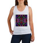 Rainbow Mandala Pattern Women's Tank Top