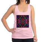 Rainbow Mandala Pattern Racerback Tank Top