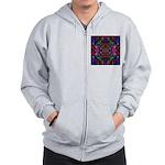 Rainbow Mandala Pattern Zip Hoodie